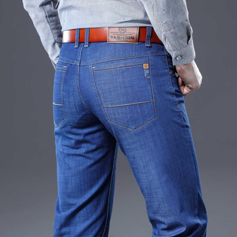 Dżinsy męskie mężczyzna Jean Homme męskie męskie klasyczne mody spodnie jeansowe Biker Luxe spodnie Slim Fit workowate proste spodnie projektant