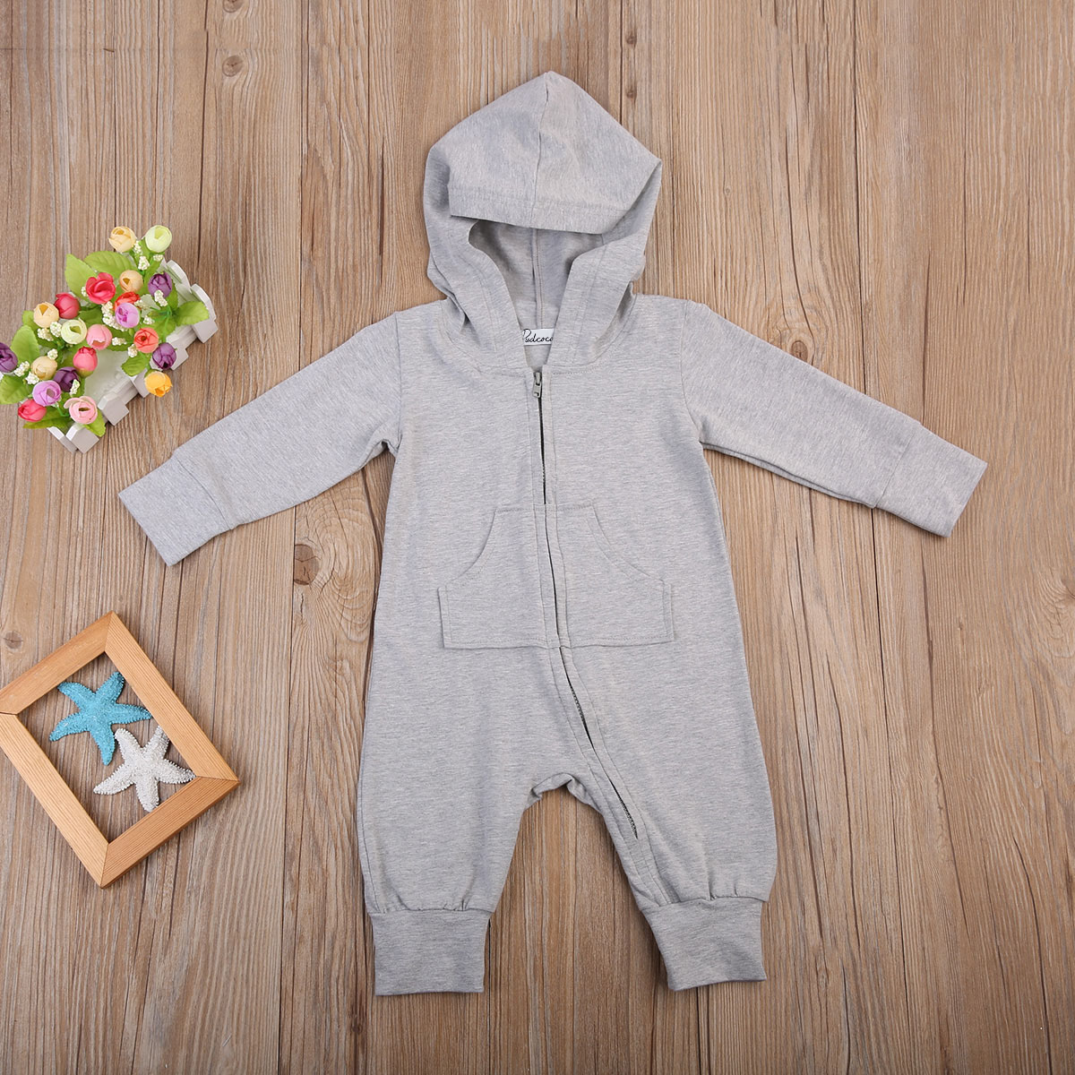 Cartoon-Toddler-Newborn-Baby-Boys-Girls-Romper-Long-Sleeve-Gray-Hooded-Jumpsuit-Zipper-Outfits-Clothes-3