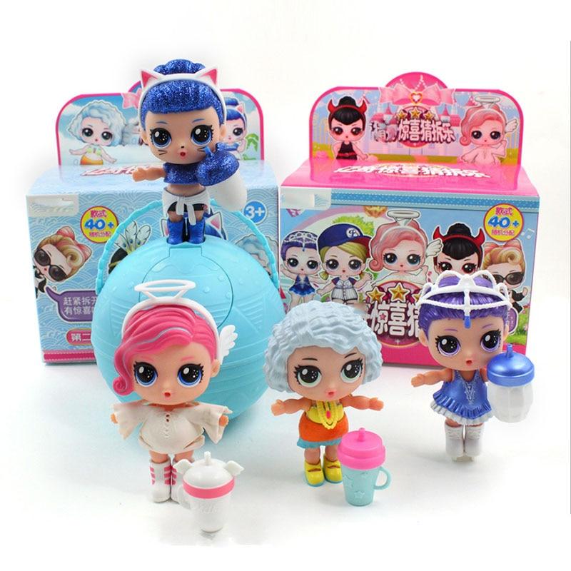 Landzo quente 1pc eaki original lol reborn boneca crianças quebra-cabeça brinquedo engraçado diy brinquedos princesa boneca caixa original multi modelos