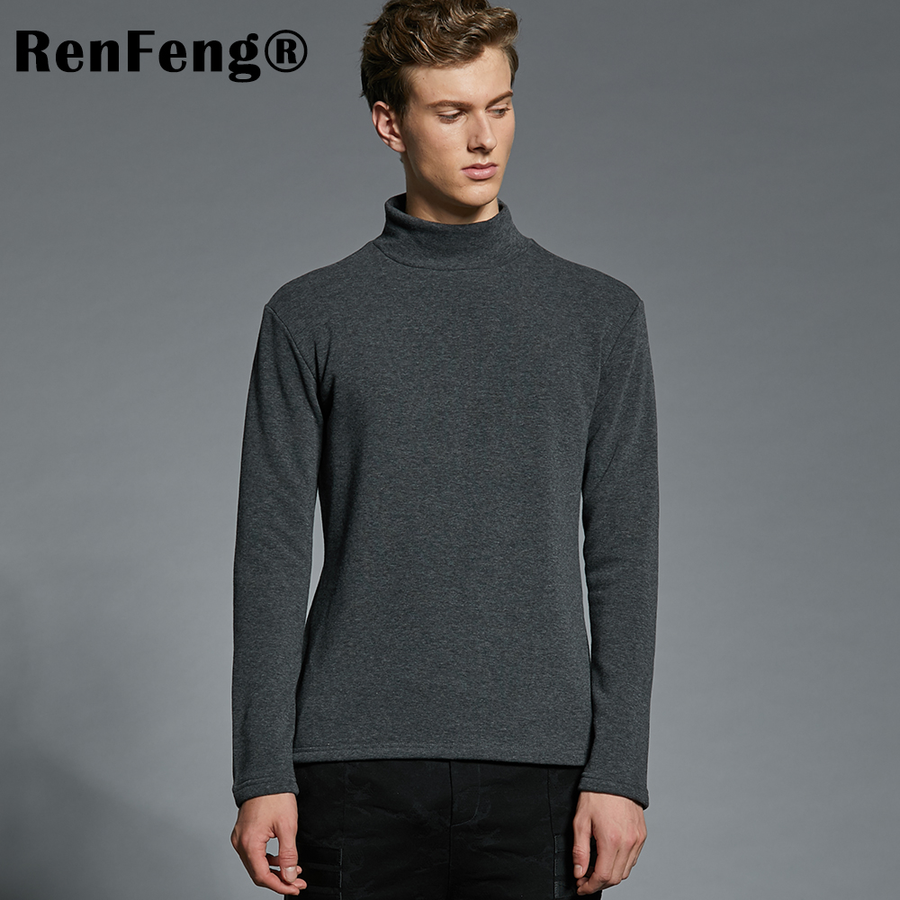 Men's Cotton Undershirts Underwear Long Sleeved Undershirt Spring Turtleneck Shirts Bodybuilding Solid Color Thermal Basic Shirt (2)