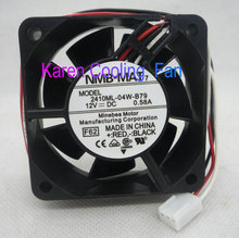 NMB Original 6cm 6025 12V 0.58A 2410ML-04W-B79 -F62 3Wire Cooling fan 2410ML-04W-B70