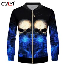 CJLM Dropshipping Jackets Men's Cool 3D Print Flash Light Skull Jacket Death Skulls Coats Sugar Skull Overcoat Zipper Tracksuits(Hong Kong,China)