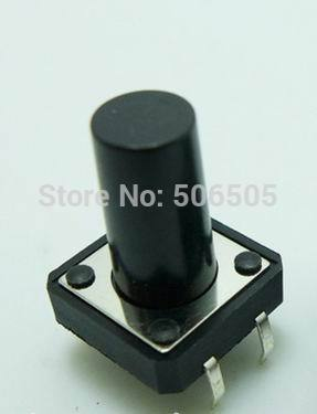 12x12x17mm 4pin DIP Tactile Tact Mini Push Button Switch Micro Switch Momentary 50pcs/lot
