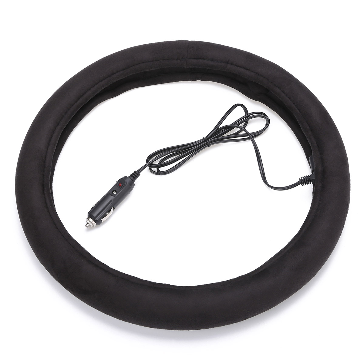 Universal 15Inch 38CM Flexible Winter Heated Steering Wheel Cover Heater Electric Car Lighter Plug Car Winter Heated Covers