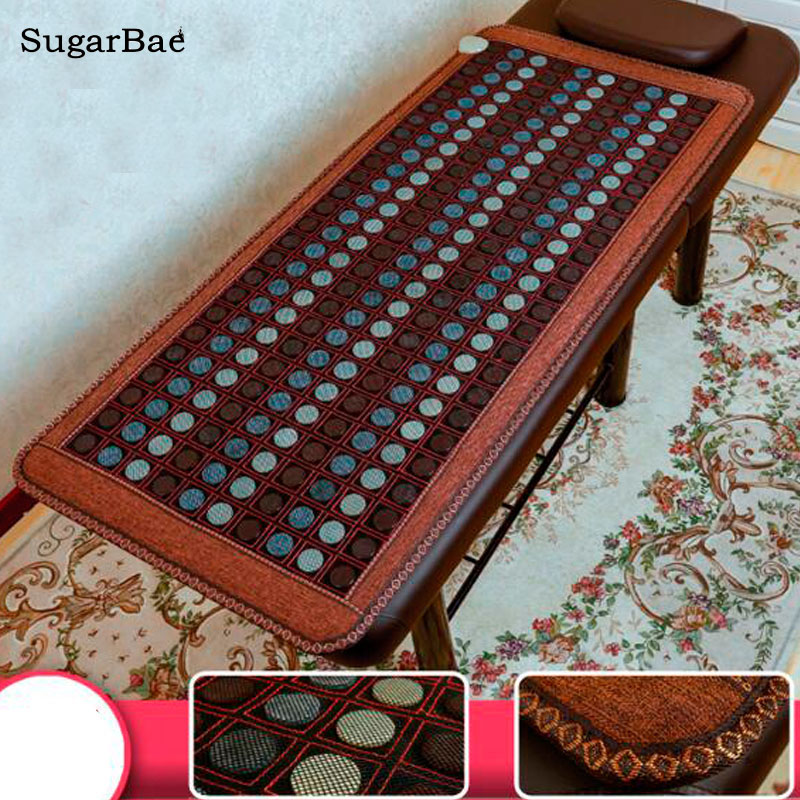 New Health Care Heating Jade Cushion Natural Tourmaline Mat Physical Therapy Mat Heated Jade Mattress Size 70cmX160cm 2 sets ball the plum flower jade handball furnishing articles hand bead natural jade health care gifts