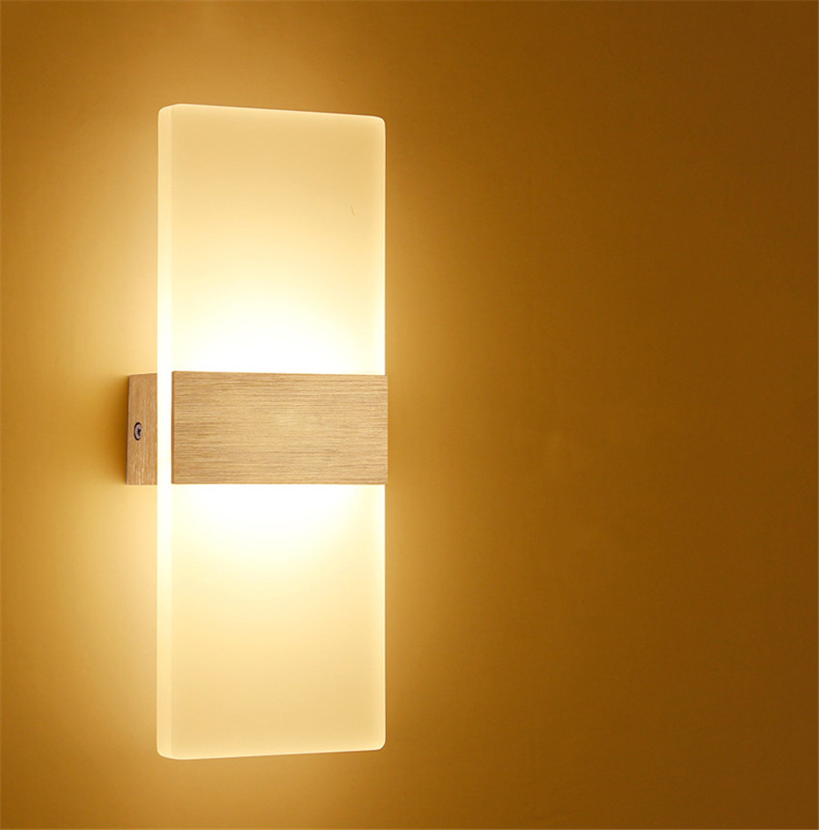 Modern Led Wall Lamps : 6W 12W Modern Led Wall Lamps Acrylic Bed Room Wall light Living Sitting Room Foyer Bathroom LED ...