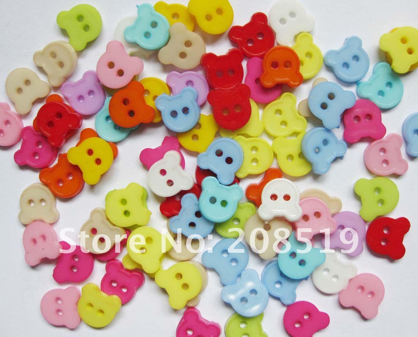NB0102 смешанные цвета 600 шт Кнопка для детской одежды 11,5 мм голова медведя аксессуары для одежды детские пуговицы