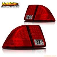 Для 01 02 03 04 05 Honda Civic 4Dr седан светодио дный светодиодные стоп задние фонари лампы для мотоциклов Chrome Красный США отечественные Бесплатная дос