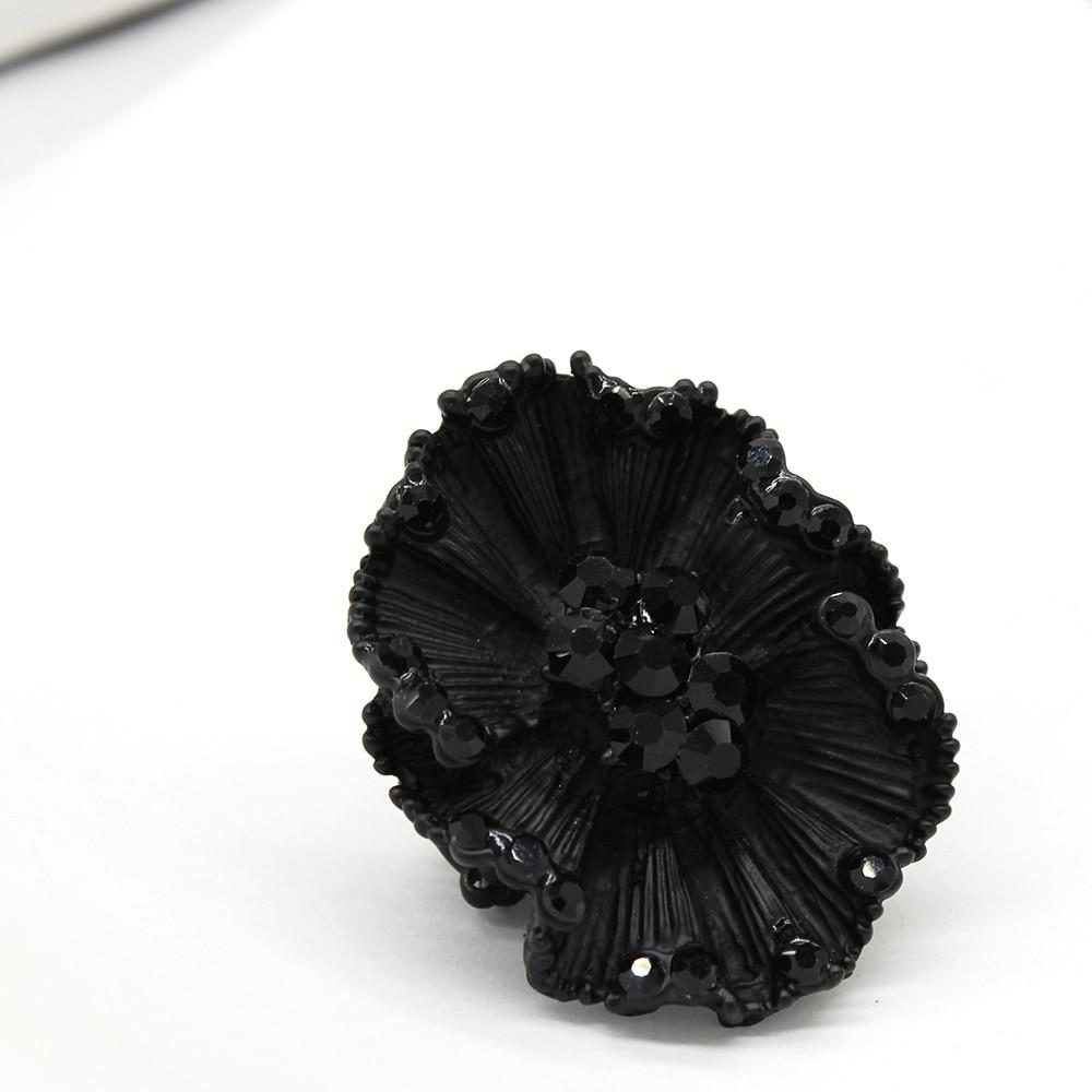 Новое матовое кольцо с черным шармом, подарок на день рождения, 2019|Кольца|   | АлиЭкспресс