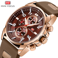 MINI FOCUS Men Sport Watch Chronograph Silicone Strap Army Military Quartz Watches Top Brand Luxury Male Relogio Masculino