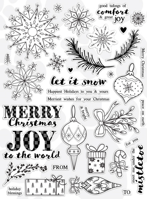 Merry Christmas/Transparent Clear Stamps for DIY Scrapbooking/Card Making/Kids Christmas Fun Decoration Supplies
