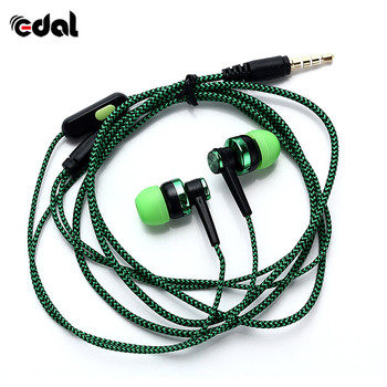 3.5mm Bass Stereo Headphone For Iphone Xiaomi phone Wired In-ear Earphones with mic Headset