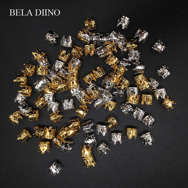 50 шт. золотистый, серебристый, металлический алюминиевый волос кольцо бусины-трубки дреды замок дреды манжеты клип африканские волосы косы ювелирные аксессуары