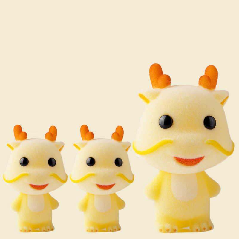 Super Bonito Reunindo Brinquedos Boneca Kawaii Mini Decoração Do Carro Dragão Acções Figura Brinquedos Para Meninas Bonecas Requintados Para Boneca DIY casa