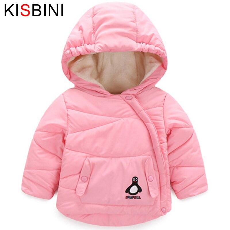 Kisbini Одежда для маленьких девочек пальто куртка с капюшоном толстое хлопковое пальто Одежда для маленьких мальчиков Подпушка куртка для де...