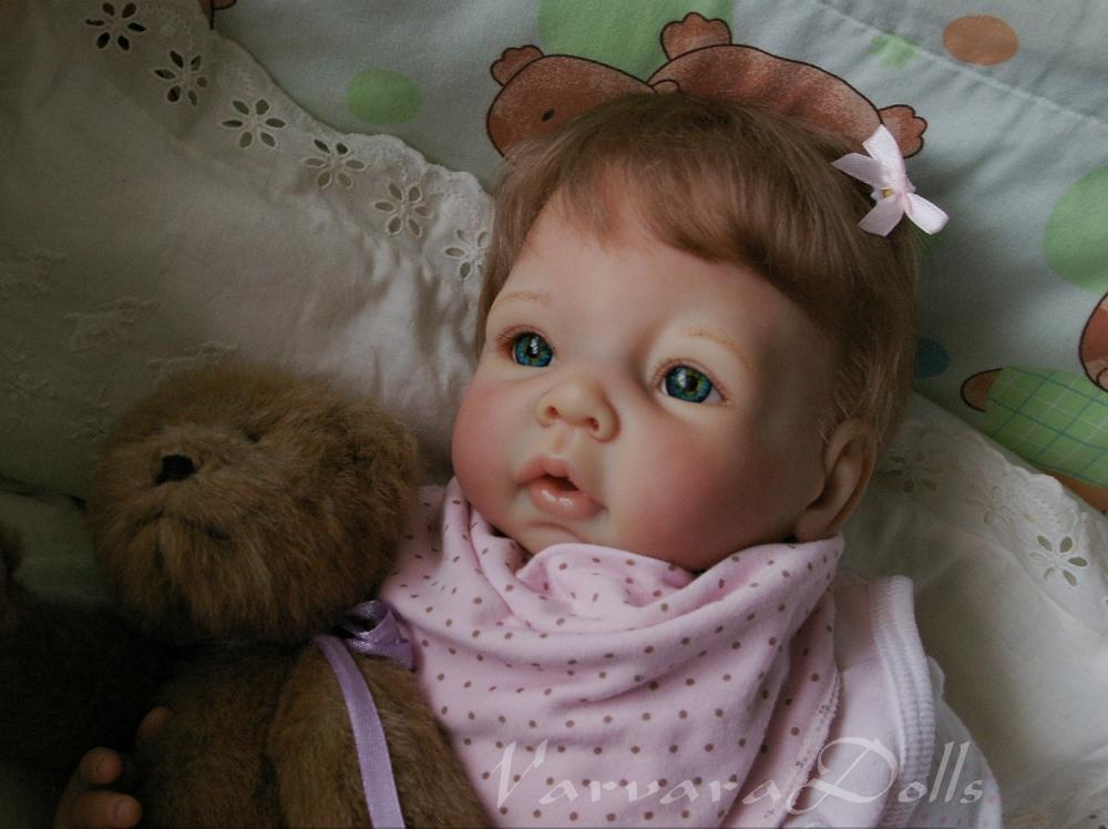 Free Shipping Hotsell Popular Selling Doll Parts Soft Reborn Baby Dolls Kit Silicone Vinyl Head 3/4 Arms And Legs For 20