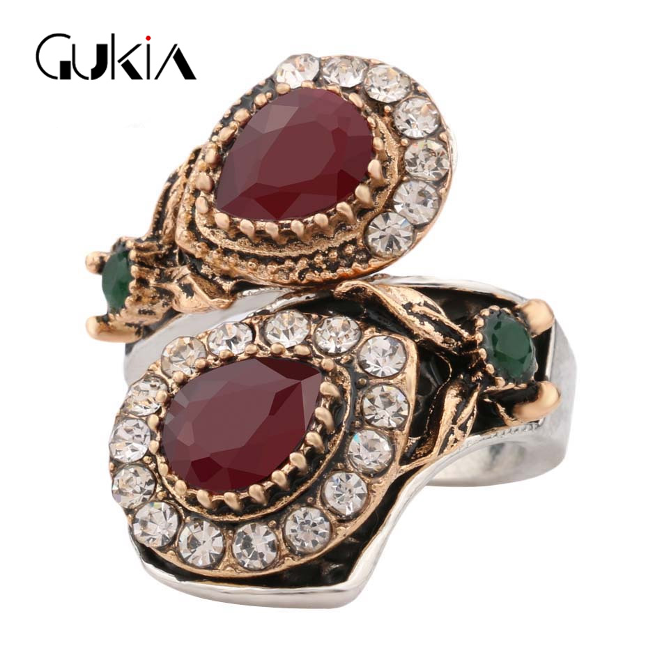 2016 New Hot Luxury Ring Anillo Vintage Jewelry Stonerings