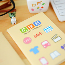Korean stationery Cute mini notebook planner book family financial accounting balance