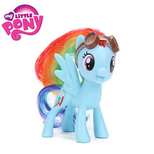 8cm Movie My Little Pony Figures Toys Friendship is Magic Rainbow Dash PVC Action Figure Pony Collectible Model Dolls brinqudoes