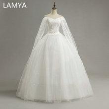 LAMYA Princess Customized Wedding Dresses 2019 Lace Vintage Bridal Gowns Cheap Off The Shoulder Wed Dress vestidos de noiva