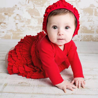 Red And Pink Baby Dresses For Party Beautiful Princess 1st Birthday Party Festive Newborn Gift Dress