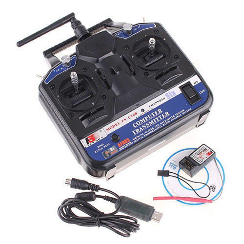 FlySky FS-CT6B CT6B 2.4G 6CH Radio Transmitter+FS-R6B 6CH Receiver