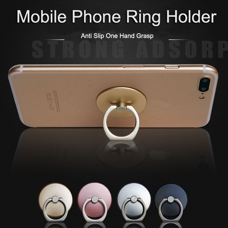 Luxury   Ring  Holder Finger Ring Mobile Phone Smartphone Stand Holder For Mobile Phone Universal  Socket Holder Support