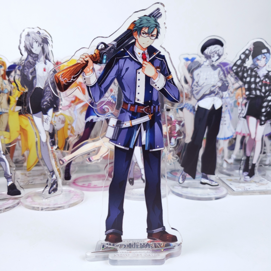 Anime Game Eiyuu Densetsu Sen no Kiseki 3 Arianrhod Rean Schwarzer Altina Orion Acrylic Stand Figure Toy Cosplay Cute Gift