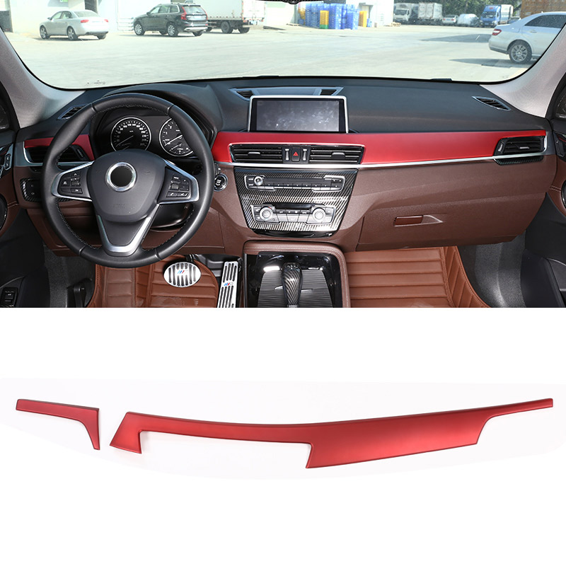 For BMW X1 F48 2016 18 ABS Plastic Car Interior Center Console Protection Panel Cover Trim