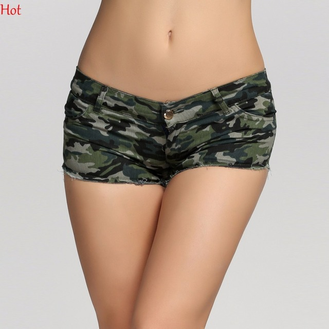 2017 Summer Style Women Shorts Camouflage Jeans Short Sexy -6231