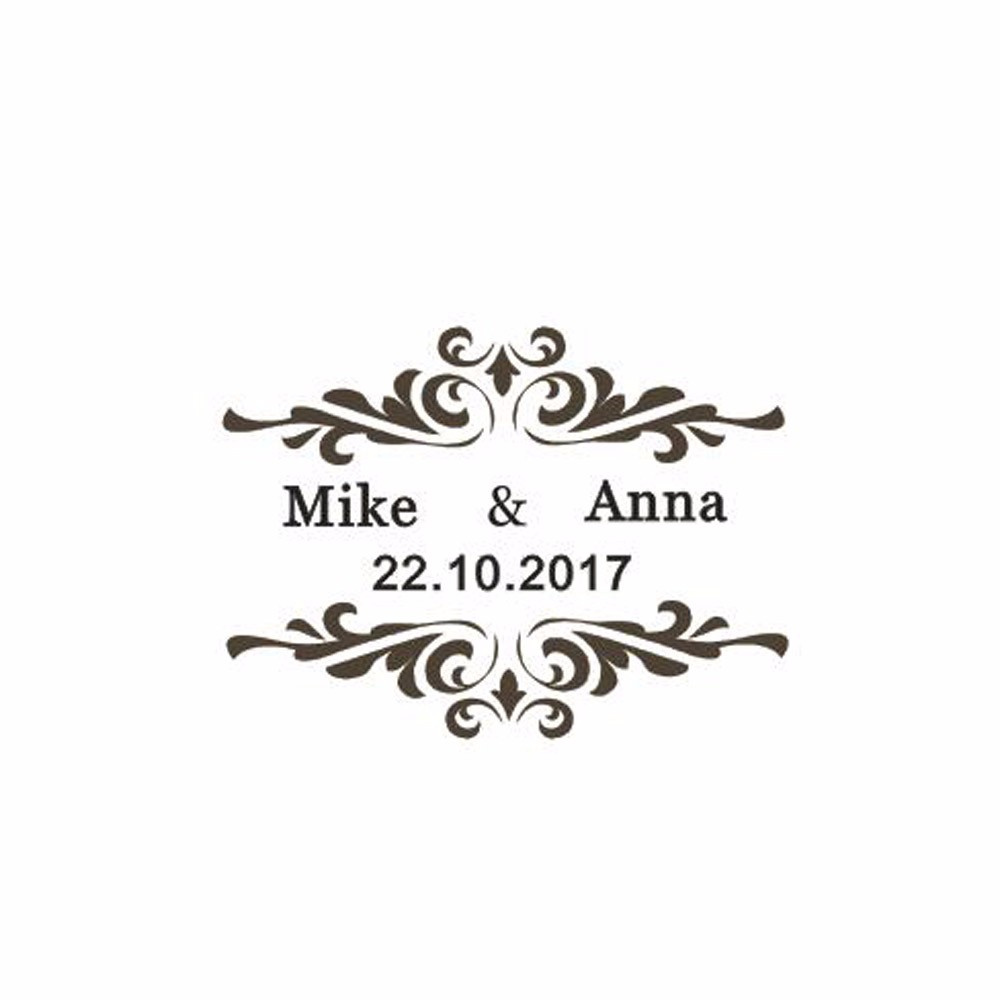 Personalized Custom Wedding Stamps Invitation Card Seal Thank You