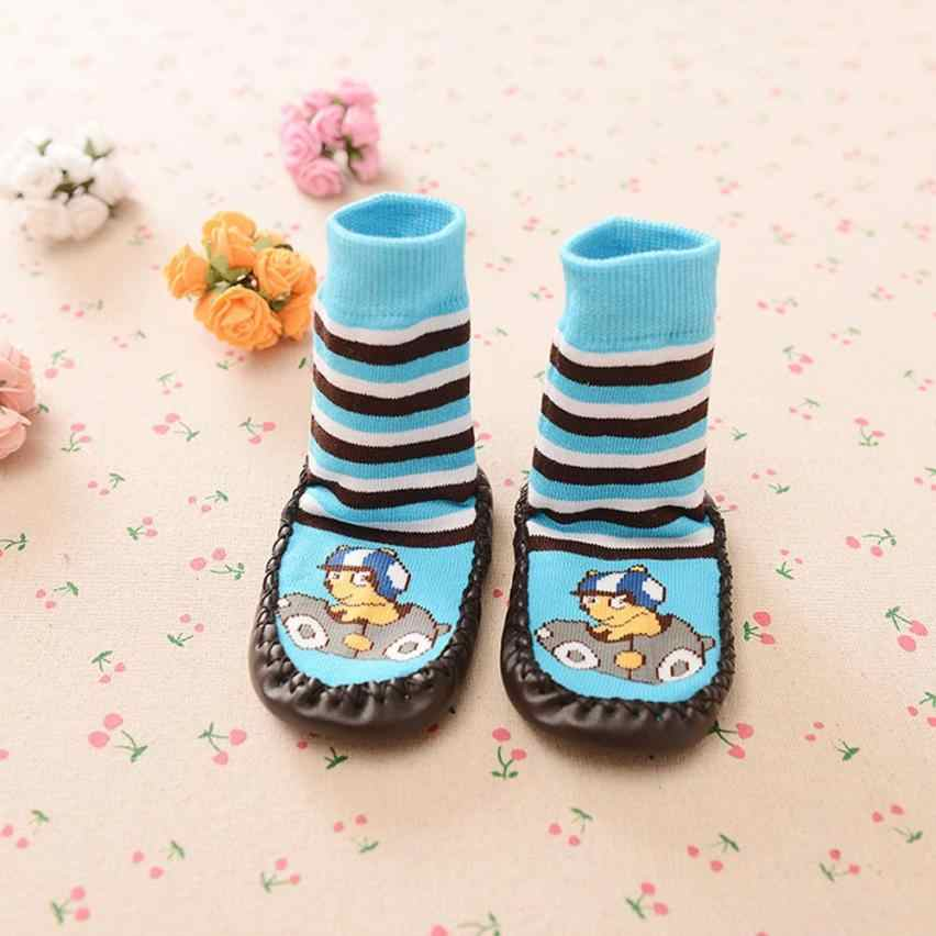 2016 cartoon pattern Kids all seasons Toddler Baby Anti-slip Sock Shoes Boots Slipper Socks bota infantil menina kids