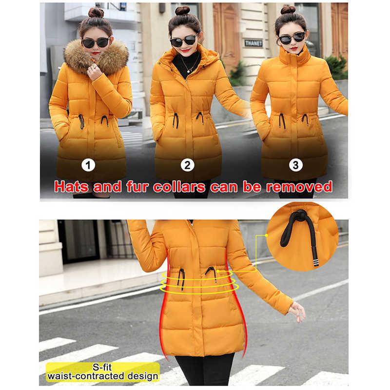 acec5ea44 Fake Fur Parkas Women Down Jacket New 2019 Winter Jacket Women Thick Snow  Wear Winter Coat Lady Clothing Female Jackets Parkas
