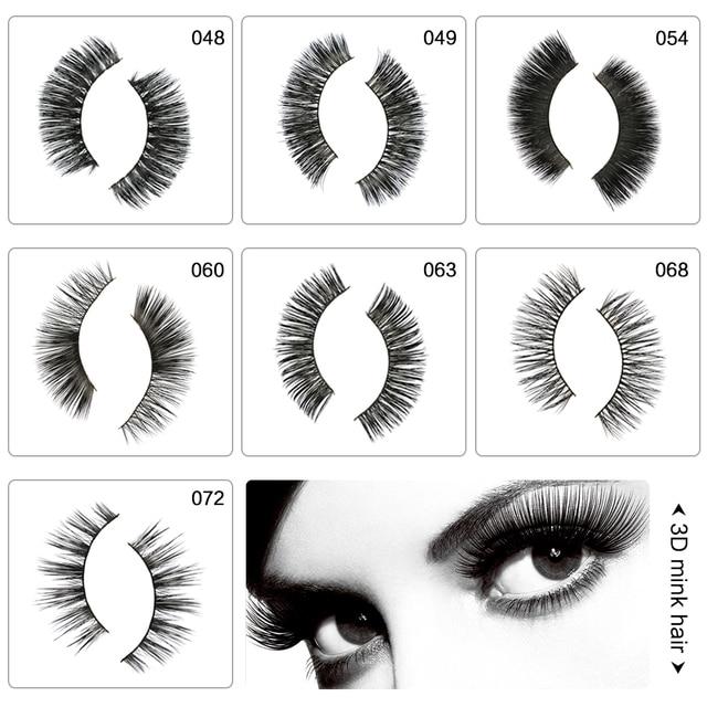 ba94abcc00c 6 Styles 3D Full Strip Mink Black Long Cross Thick Curl Sparse False Fake  Eyelashes Lash