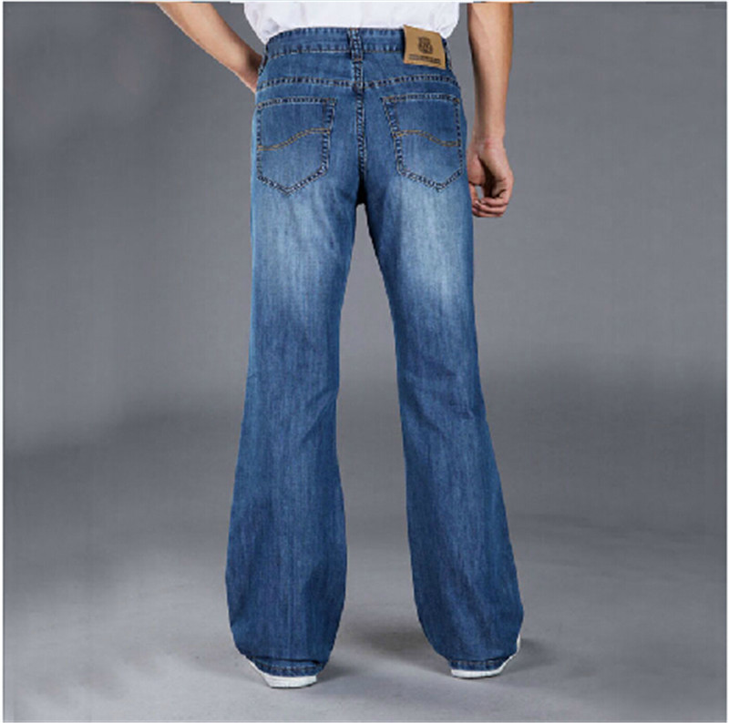 ФОТО 2015 Fashionable Casual Big Men Flare Pants jeans Male Loose Denim Long Trousers Sexy Cool Plus Size 28-38