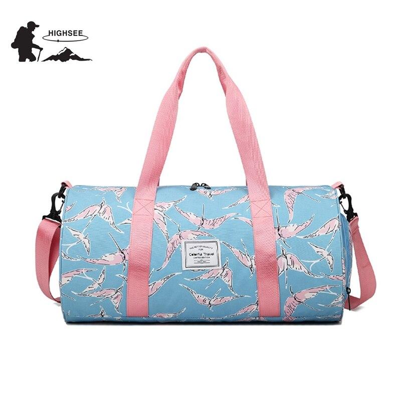 HIGHSEE путешествия спортивная сумка Training Gym Bag Для мужчин женщина Фитнес сумка для хранения обуви Для женщин Спорт тренажерный зал Йога Спорти... ...