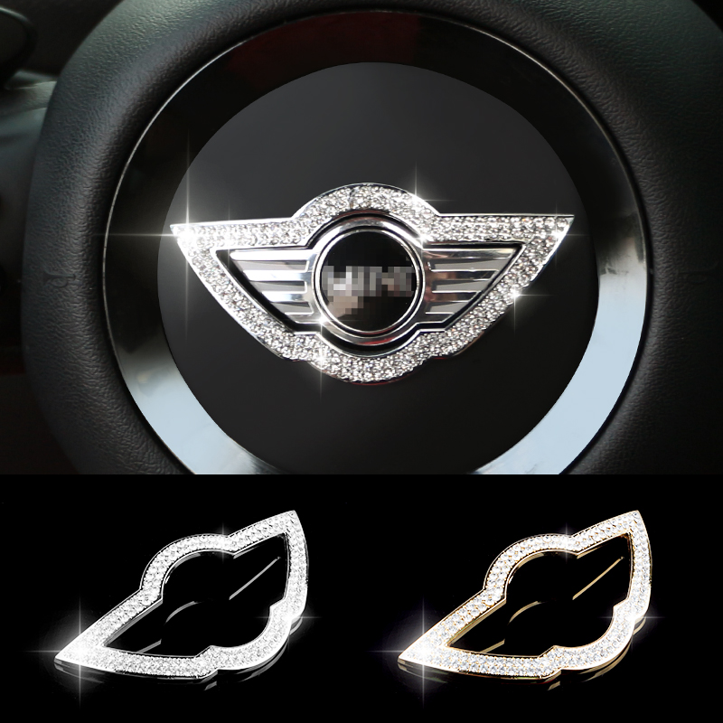 Image 2 - Central control outlet Door Sticker For Mini Cooper R55 R56 R60 R61 Car Styling Diamond Tachometer Metal Car Interior Stickers-in Interior Mouldings from Automobiles & Motorcycles