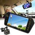 Bluetooth 7 Pulgadas Monitor Del Espejo de Visión Trasera Aparcamiento Cámara Reproductor MP5 + Copia de Seguridad de Marcha Atrás de HD Resistente Al Agua