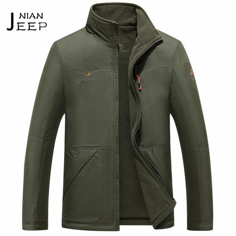 NIAN JI PU Winter Fleece Inner Mans Widen Straight mantener el calor jacket,stand color de doble cara waterproof outwear