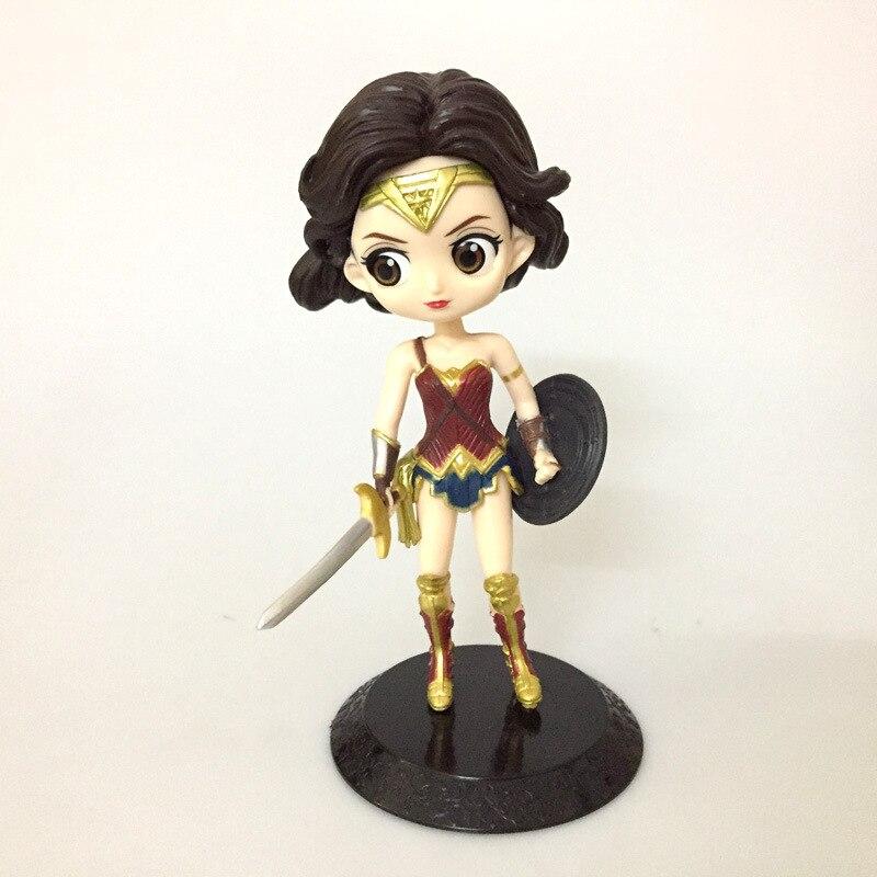 2018 Новый Винил Куклы Super Hero фигурки Wonder Woman игрушки для Для детей домашнего декора автомобиля Модель Коллекция подарков игрушки комплект