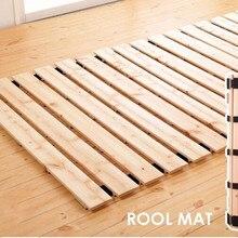 Японский Стиль твердой древесины кровать Поддержка рейки для татами Спальня мебель 800/900/1000/1200/1500 мм Размеры queen/двуспальная кровать каркас