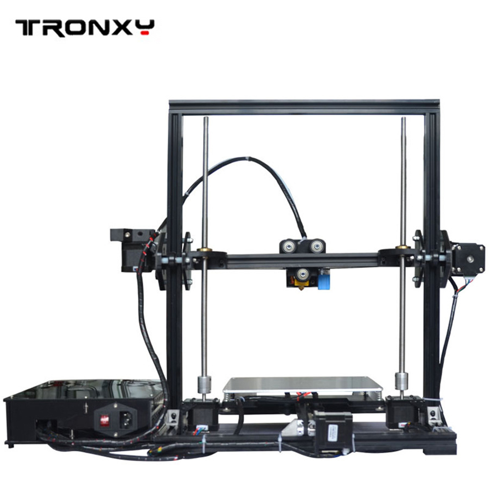 Newest Aluminium Structure Auto Leveling Print Size 220*220*300mm ABS&PLA 3D Printer Updated Extruder Reprap prusa i3 LCD Screen he3d k280 delta large size auto leveling single extruder the newest dlt k280 3d printer diy kit with heatbed