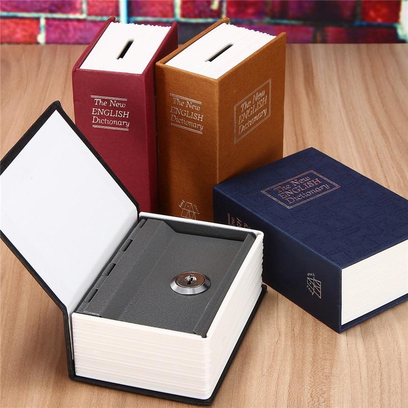 Home Security Simulation Dictionary Book Case Cash Money Jewelry Locker Secret Safe Storage Box With Key Lock
