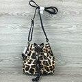 Vintage Women PU Crossbody Bags Small Leopard Printing Messenger Bags Girls Designer Shoulder Bags Bolsas Femininas bucket bag