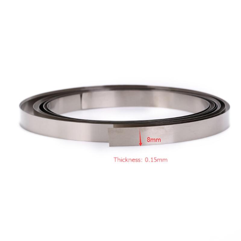 1Roll 2M 8mm X 0.1/0.12/0.15  Nickel Plated Strip Tape For Spot Welder Machine For Li 18650 Battery Spot Welding Compatible
