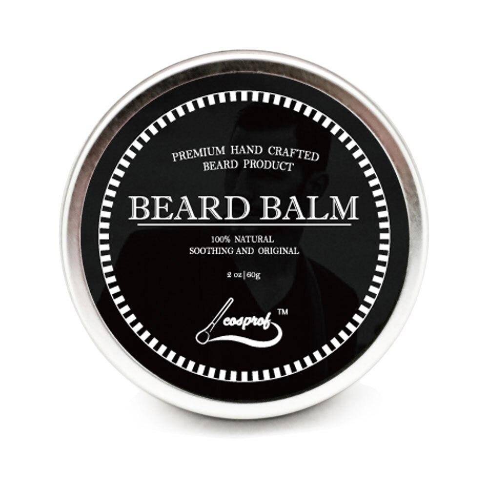 Cosprof Beard Balm Beard Oil Conditioner Balm Healthy Moisturizing Moustache Wax Brush Comb Natural Organic Styling Set 2