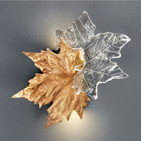 Phube Lighting Artistic Copper Branches Wall Lamp Transparent Grape Leaf Wall Light Aisle Corridor stairs Gallery Sconce
