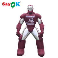 5m/16.4ft Giant Inflatable Iron Man Marvel Avengers Superhero with Blower for Advertising Exhibition Anime Show