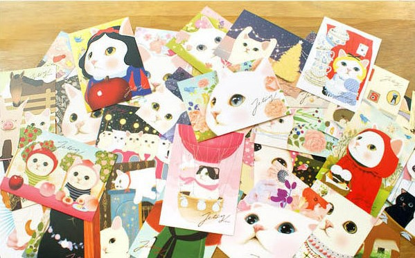 Post Card 2014 Free Shipping Friends Festival Creative Greeting