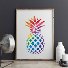 Pineapple Art Print Painting Geometric Decorative Nursery Picture Home Decor Children Gift Wall Z160